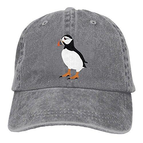 Puffin Bird Adjustable Baseball Cap Trucker Hats for Men and Women, Ash, One Size