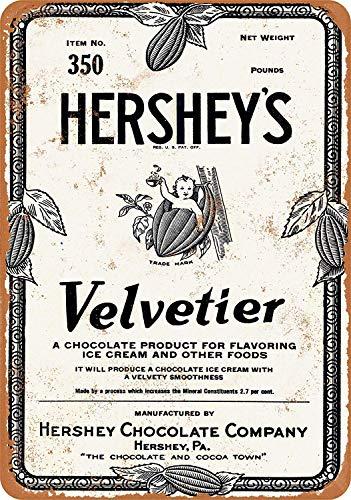 niet Hershey's Velvetier Chocolade Siroop Tin Muurbord Metalen Retro Poster Iron Waarschuwingsborden Vintage Opknoping Art Plaque Yard Garden Cafe Bar Pub Openbaar Gift 8X12 Inch