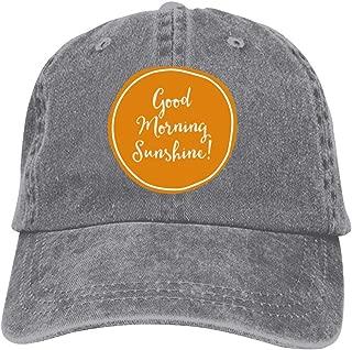 LeoCap Good Morning Sunshine Baseball Cap Unisex Washed Cotton Denim Hat Adjustable Caps Cowboy Hats