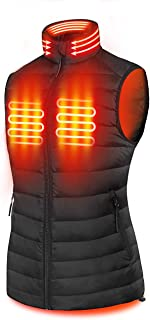 Women's 90% Down Heated Vest, Lightweight with Neck Warmer, with Battery Pack