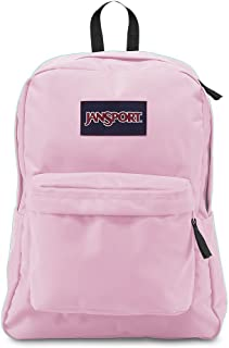 JanSport Superbreak Backpack - Lightweight School Pack, Pink Mist