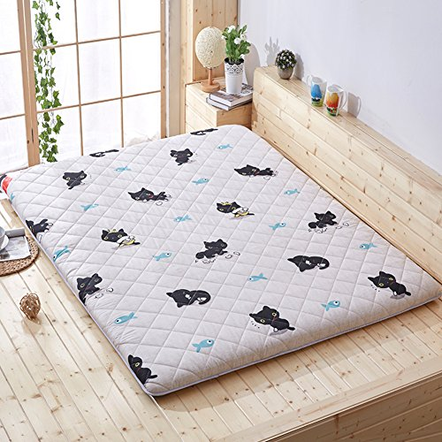 HYXL Colchón Plegable de Suelo de Tatami Mat,Colchón futón japonés Futón Tatami de la Estera con Tela Anti-ácaros sin Productos químicos para hogar Dormitorio-J 90x200cm(35x79inch)