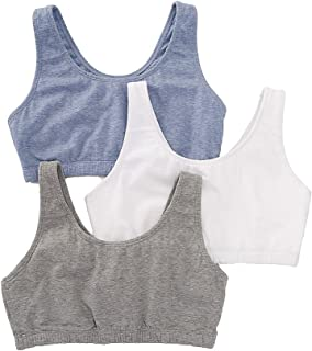 Fruit of The Loom Women's 3 Pr Built-Up Sportsbra, Grey,...