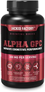 Alpha GPC Choline Supplement 300mg - Premium Stimulant-Free Nootropic Brain Booster for Enhanced Cognitive Function, Clari...