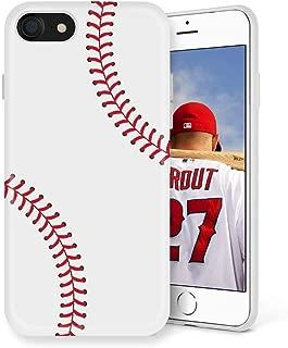 Litech™ Case for Apple iPhone 7 / iPhone 8 [Flexfit] Premium Scratch-Resistant Cute Creative Artistic Design (Baseball)