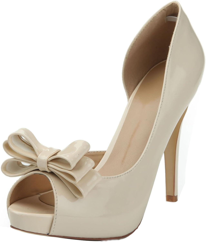L@YC Damen High Heel Fliege Stiletto Peep Toe Toe Größen Party Kleid Schuhe   12cm Absatz  Modemarken