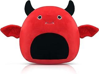 Bat Plush Toys, 7.8 Inch Soft Bat Stuffed Animal Toys for Boys Girls, Soft Plush Doll Hugging Plush Pillow, for Boys red