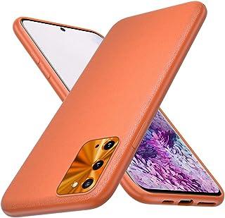 AChris Huawei P30 Lite Nova 4E fodral med skyddande film smalt fodral silikon med läderbaksida stötsäker halkfri fullt sky...