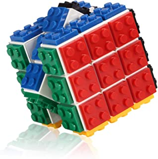 Building Bricks Magic Speed Cube Puzzle for Kids, Boys and Girls, The Best Handheld Game with 3x3 White Cube with Multi-Colored Removable Blocks, Smooth and Durable Toy for Children 5 & Up
