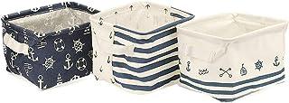 Orino Nursery Nautical Baskets Beach Anchor Theme Bins Small Set of 3