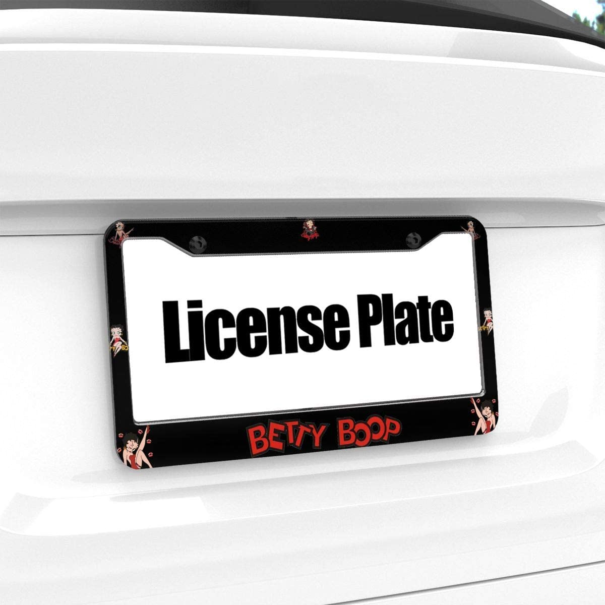 N//C Betty Boop 3D License Plate Frame Metal Auto License Plate Frame Car Tag Holder