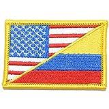 Colombian/USA Flag -...image