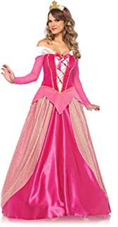 Halloween Costume Princess Aurora Dress Adult Women Sleeping BeautyClothes