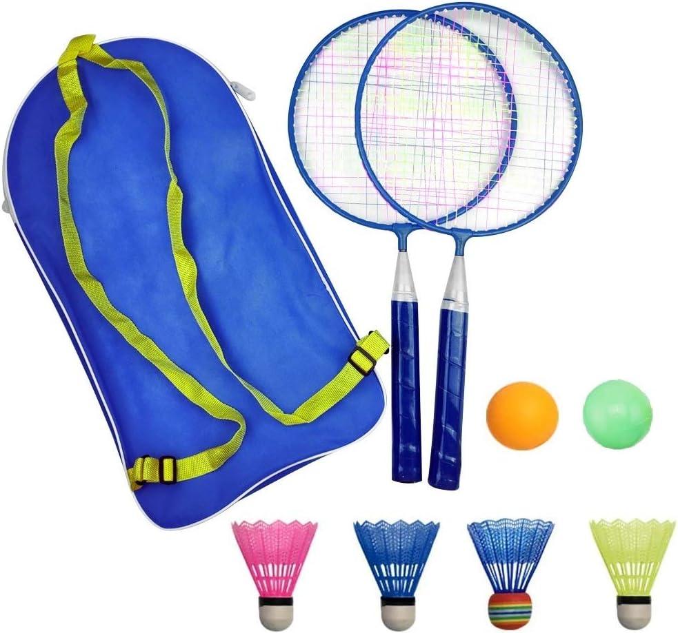 1 Pair Children Tennis Badminton Rackets Ball Set Nylon Sports Game Family G6R6