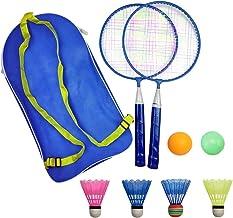MAOJIE Random Color Kids Badminton Set With Soft Foam Handled Badminton Racket Set with Shuttlecocks Outdoor Indoor Garden Sports Fun Game