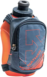 Nathan NS4859 Speedshot Plus Quick Grip 12 oz Running Water Bottle Flask with Zip Pocket