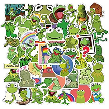 50 Pcs Kermit The Froge Sticker Pack Waterproof Vinyl Stickers for Water Bottles Skateboard Stickers for Teens Laptop Stickers Motorcycle Bicycle Graffiti Patches Glass Door Decal