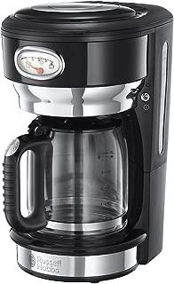 Russell Hobbs 21701-56 Retro Cam Karaflı Kahve Yapma Makinesi, 1,25lt/10 Fincan, Siyah