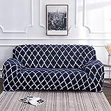 Fundas de sofá elásticas con Estampado Floral para Sala de Estar, Toalla de sofá, Funda de sofá Antideslizante, Funda de sofá elástica A10, 3 plazas