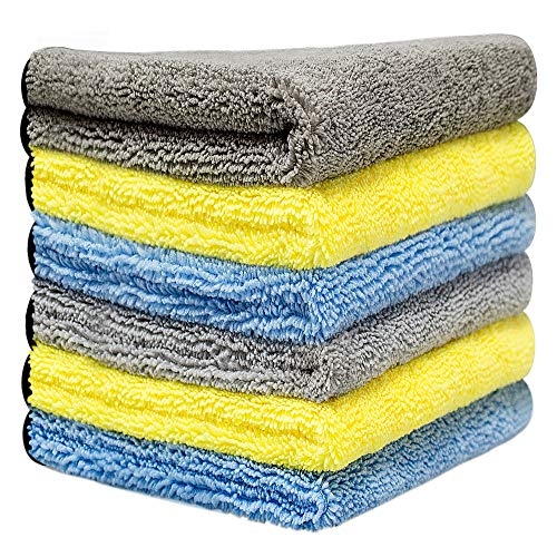 洗車タオル より大きい より厚い 6枚セット 40x40cm 吸水 速乾 洗車職人のこだわり 洗車 家事用 掃除 ふき...