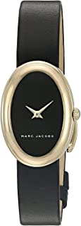 Marc Jacobs Cicely Women's Black Dial Leather Band Watch - MJ1454