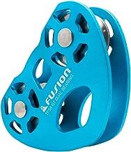 Fusion Climb Tesa Speed Aluminum Zip Line Blue Trolley Pulley