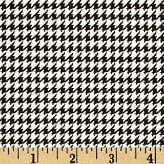 A.E. Nathan Comfy Flannel Houndstooth Black Fabric By The Yard