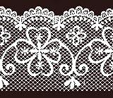 Dundee Deco MGAZB6001 Abziehen und Aufkleben, Gittermuster, selbstklebend, für Spiegel, Fenster, Tapeten Bordüre, 10 m x 10 cm