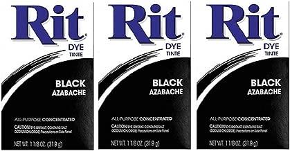 Rit Dye Powder Dye, 1-1/8 oz, Black, 3-Pack