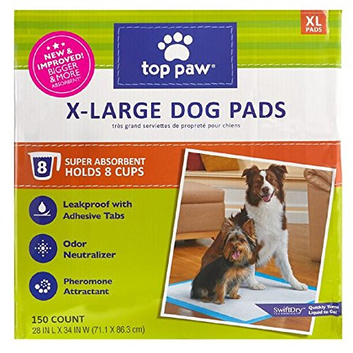 Top Paw New and Improved X-Large Dog Pads (150 Count)