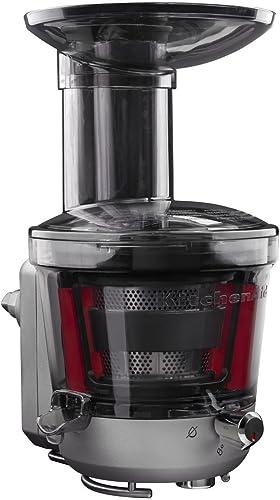 2021 KitchenAid KSM1JA Masticating Juicer and outlet online sale Sauce Attachment, 1L, lowest Silver outlet online sale