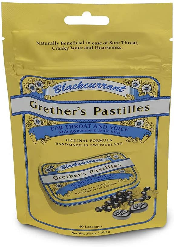 Grethers Don't miss the campaign Blackcurrant Pastilles Travel Dealing full price reduction by Grether's Refill Pouch