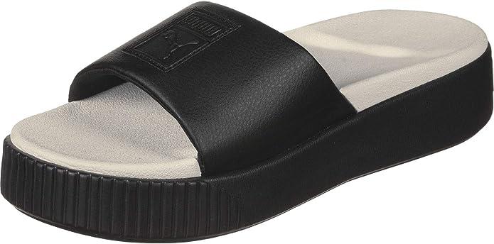 recluta Es decir Color de malva  PUMA Platform Slide Wns, Sandalias con Plataforma Plana Mujer: Amazon.es:  Zapatos y complementos