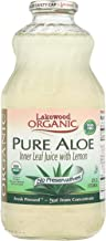 Lakewood Organic Aloe Juice - Fresh Pressed - Inner Fillet - 32 oz - 95%+ Organic - Gluten Free - Contains 100% juice