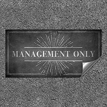 Management Only CGSignLab Chalk Burst Heavy-Duty Industrial Self-Adhesive Aluminum Wall Decal 96x48