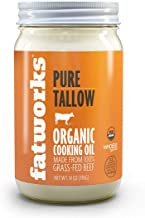 product image for Fatworks Organic Grass-Fed Beef Tallow, Certified Organic Non-Gmo Pasture-Raised Beef Tallow, sourced from several small family ranchers, KETO friendly, exclusive to Fatworks, 14 oz.