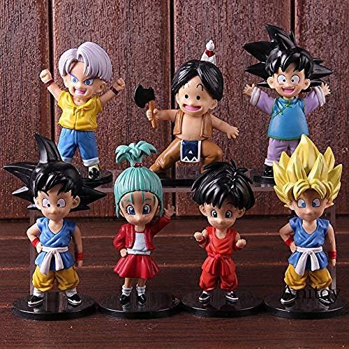 Yooped Figurilla d acción Dragon Ball GT Super Saiyan Goku Fils Gokou Goten Trunks Upa Bulla Child Ver. PVC Modelo de Collection Jouets 7pcs / Set