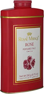 Royal Mirage Perfumed Talc For Women, Rose, 250 gm