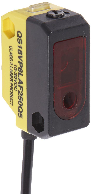 Banner QS18VP6LAF250Q5 World Beam Universal Compact Sensor, Adju