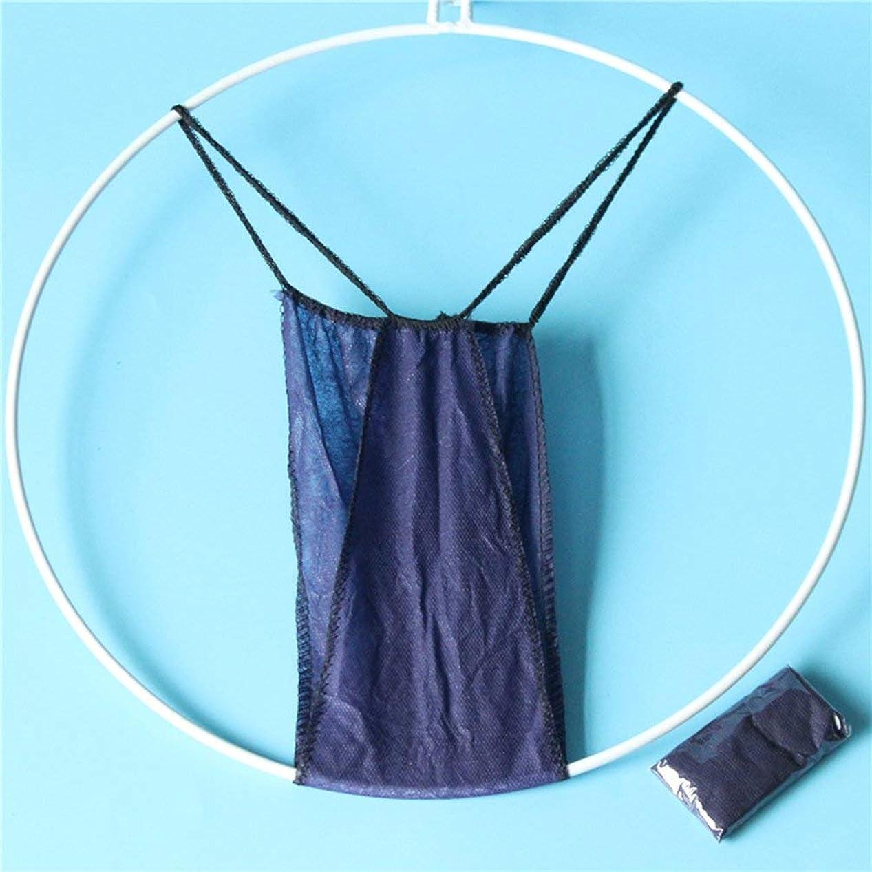 仕様カンガルー触覚不織布使い捨てひも婦人用下着ブリーフTパンツ美容サウナ - 青