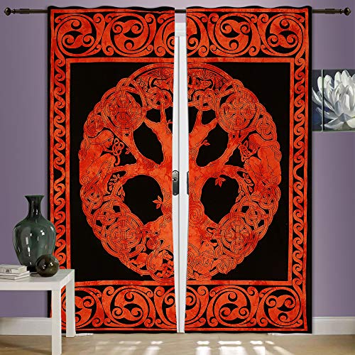 Indian-Shoppers Wall Decor Curtains Handmade Cotton Mandala Tapestry Hippie Throw Hangings Door Valances Bohemian Celtic Window Drapery Cover Queen Size