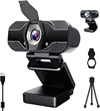 Webcam with Microphone, 1080P HD USB Web Camera, Plug and Play for PC, Laptop, Computer, Desktop, for Live Streaming, Vide...