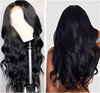 Lace Front Wigs Human Hair, VIPbeauty Brazilian Body Wave Human Hair Lace Front Wigs for Black Women 130% Density Glueless Wavy Lace Frontal Wig Pre Plucked with Baby Hair(14 Inch, Nature Color)