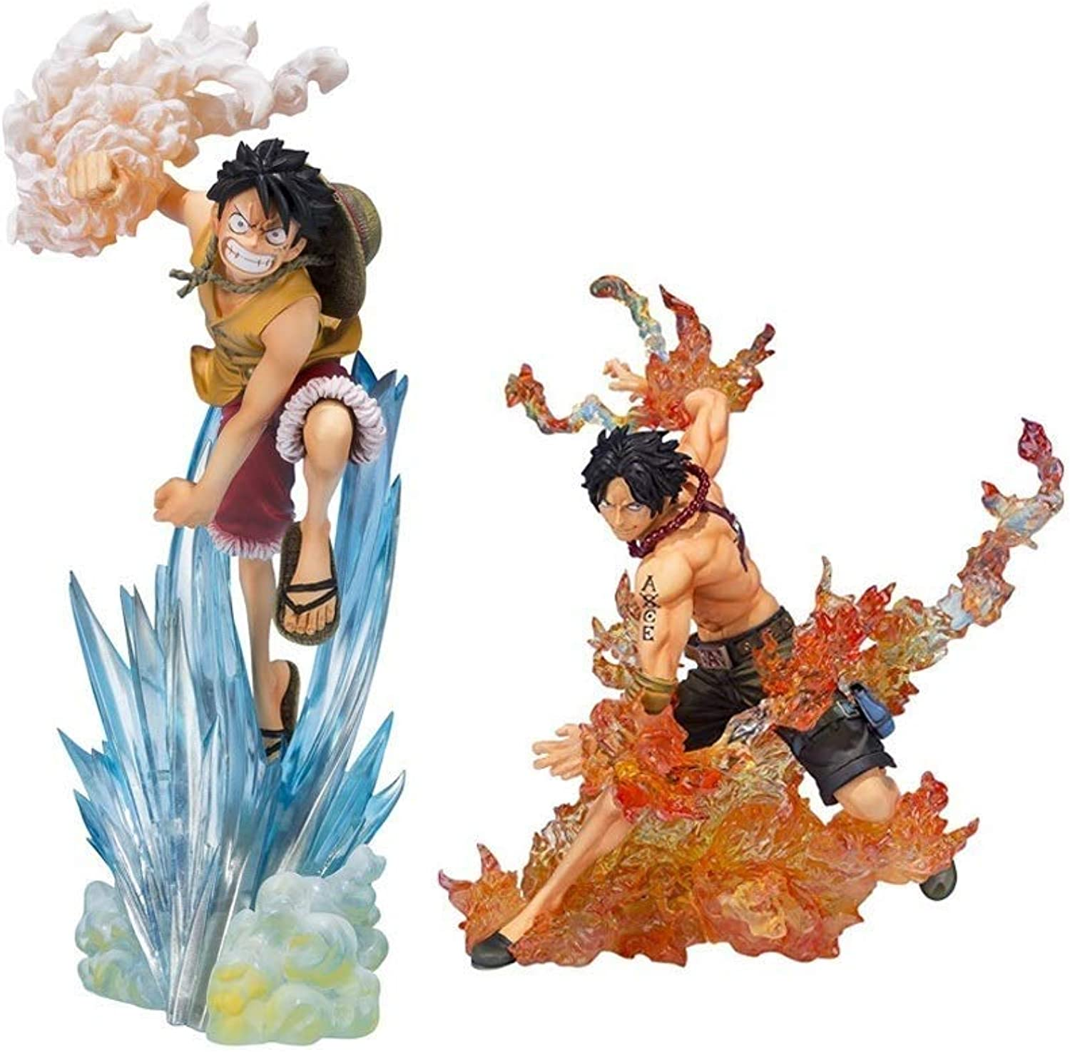 GABENG Anime Character Souvenir Crafts Ornament Toy Figurine Model Statue Nendgoldid Action Figure Onepiece2 Generation Fire Fist Ace Luffy