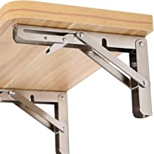 2 Stks, 10 Inch tot 16 Inch Goedkope Heavy Duty RVS Folding Bureau Tafel Muur Mount Beweegbare Hangende Hoek Plankbeugels...