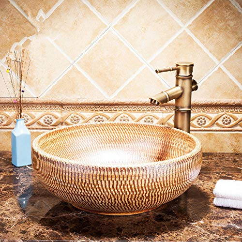 DWSS® waschbecken Runde über dem Gegenbecken Keramikwaschbecken Waschbecken Keramikwaschbecken Waschbecken