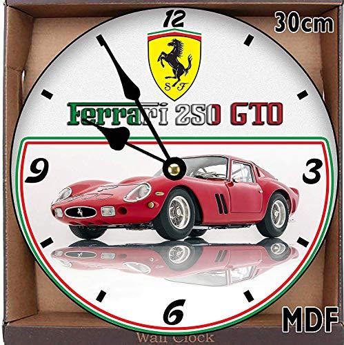 Wanduhr, Motiv Sport Cars Ferrari 250 GTO (1962) groß, 30 cm, MDF-Holz