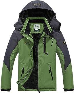 MAGCOMSEN Men's Waterproof Fleece Mountain Jacket Winter Windproof Warm Ski Jacket with Multi-Pockets