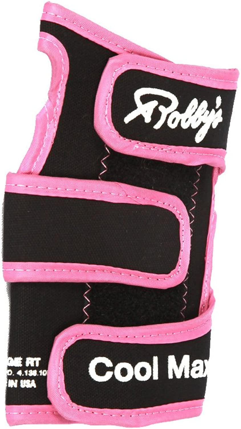 Robby's Coolmax Original Right Wrist Support, Black Pink, Large