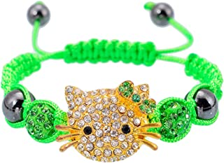 bef836c82 Fashion Jewelry ~Kids Hello Kitty Macrame Shamballa Bead Bracelet Light  Green (B6275 L Grn